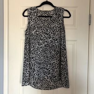 Vince Camuto | Black Spotted Top Size Small
